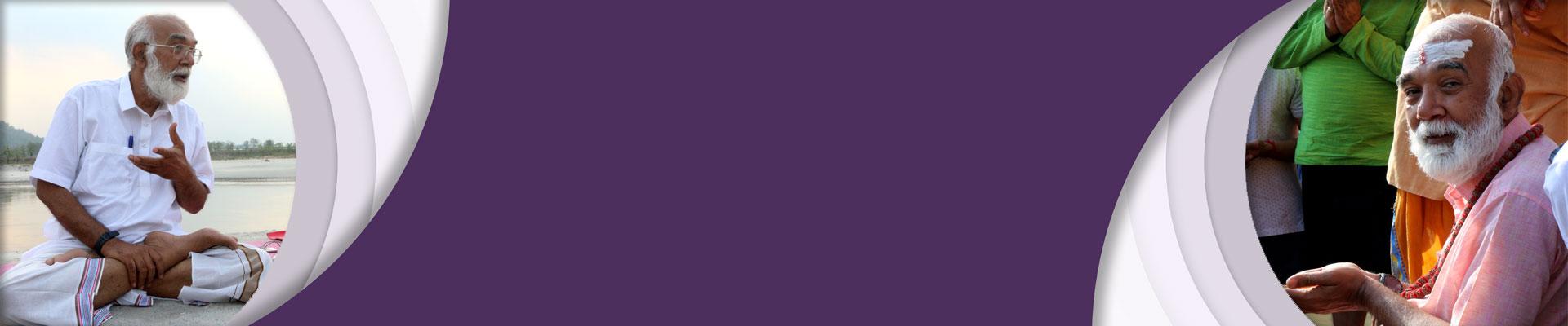 Mindfulness or Meditation purple color banner