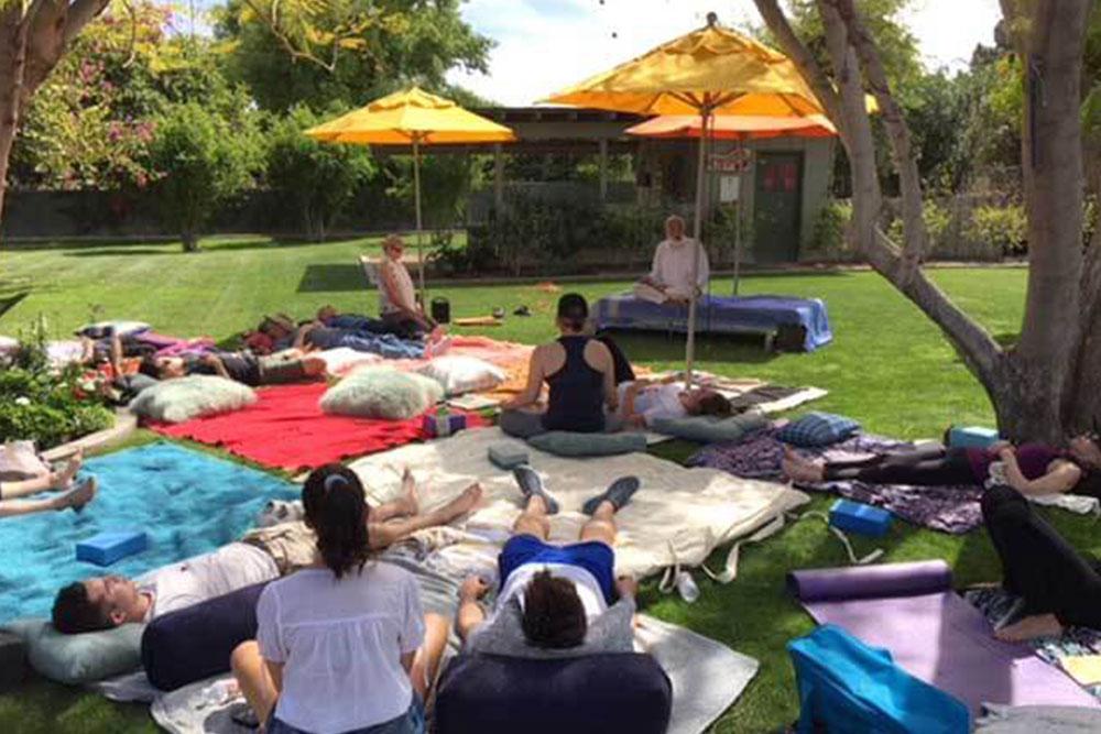 Meditation in park